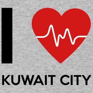 I Love Kuwait City - Men's V-Neck T-Shirt by Canvas