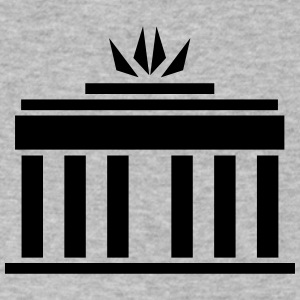 Brandenburg Gate - Men's V-Neck T-Shirt by Canvas