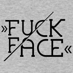 Fuck Face - Typo - T-Shirt - Men's V-Neck T-Shirt by Canvas