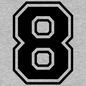Number 8 college style font - Men's V-Neck T-Shirt by Canvas