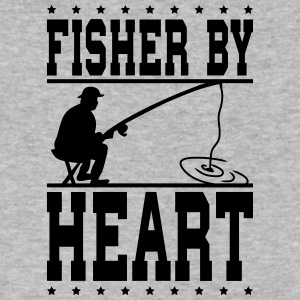 fisher by heart - Men's V-Neck T-Shirt by Canvas