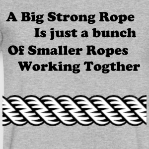 Rope inspiration. - Men's V-Neck T-Shirt by Canvas