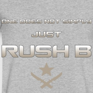 One Does Not Simply Rush B - Light - Men's V-Neck T-Shirt by Canvas