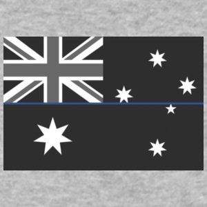Thin Blue Line Australia - Men's V-Neck T-Shirt by Canvas
