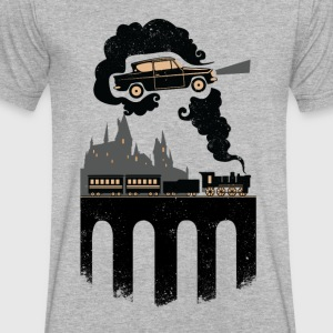 Dream train HP - Men's V-Neck T-Shirt by Canvas
