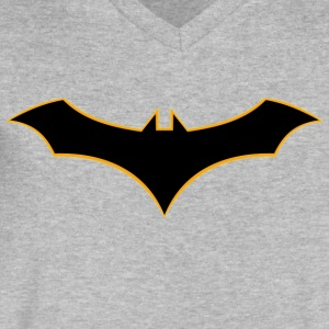 Batman Rebirth Logo - Men's V-Neck T-Shirt by Canvas