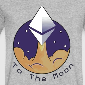 Ethereum To the moon 2017 - Men's V-Neck T-Shirt by Canvas