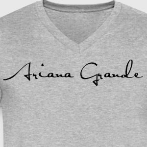 Ariana Grande - Men's V-Neck T-Shirt by Canvas