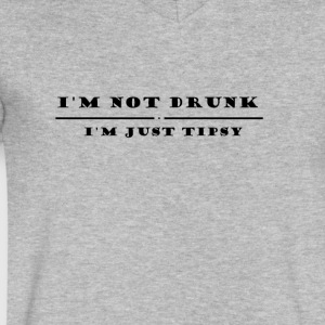 I M Not drunk just tipsy - Men's V-Neck T-Shirt by Canvas