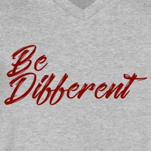 be different - Men's V-Neck T-Shirt by Canvas