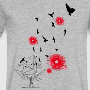 bird's and bullets - Men's V-Neck T-Shirt by Canvas