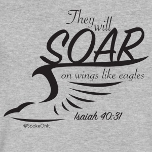 soar (all black) - Men's V-Neck T-Shirt by Canvas