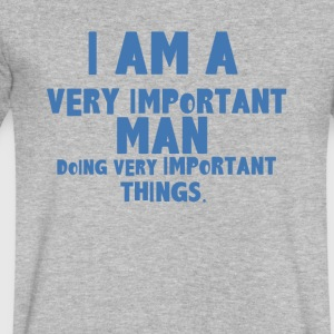 I AM VERY IMPORTANT - Men's V-Neck T-Shirt by Canvas