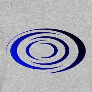Spiral Blue / Black - Men's V-Neck T-Shirt by Canvas