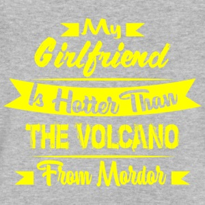 GIFT - HOTTER THAN VOLCANO YELLOW - Men's V-Neck T-Shirt by Canvas