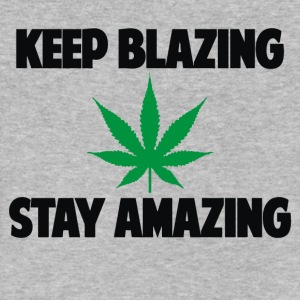 KEEP BLAZING STAY AMAZING WEED MARIJUANA - Men's V-Neck T-Shirt by Canvas