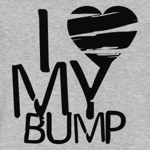 I LOVE MY BUMP - Men's V-Neck T-Shirt by Canvas