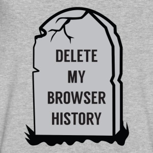Delete My Browser History - Men's V-Neck T-Shirt by Canvas
