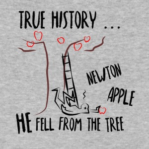 True History? ... Newton fell, not the apple - Men's V-Neck T-Shirt by Canvas