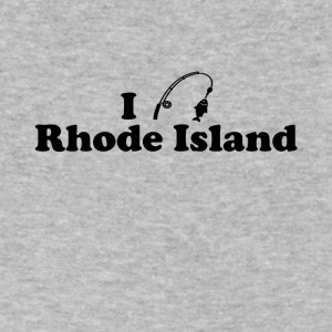 rhode island fishing - Men's V-Neck T-Shirt by Canvas