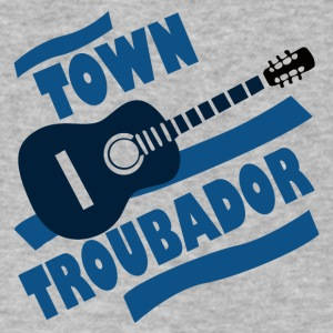 Town Troubador - Men's V-Neck T-Shirt by Canvas
