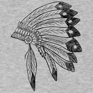 Indian Headdress - Men's V-Neck T-Shirt by Canvas