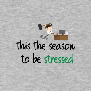 This the season to be stressed - Men's V-Neck T-Shirt by Canvas