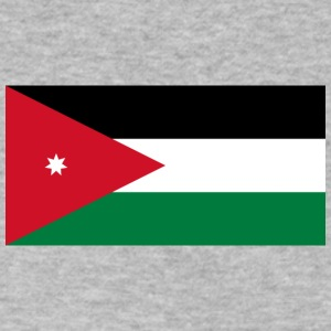 National Flag Of Jordan - Men's V-Neck T-Shirt by Canvas