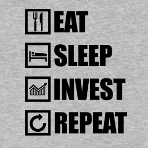 EAT SLEEP INVEST REPEAT - Men's V-Neck T-Shirt by Canvas