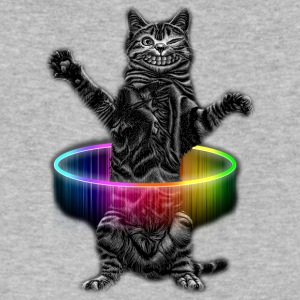 HULA HOOP CAT - Men's V-Neck T-Shirt by Canvas
