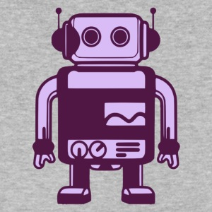 Vintage Robot - Men's V-Neck T-Shirt by Canvas