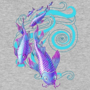 Koi Stream - Men's V-Neck T-Shirt by Canvas