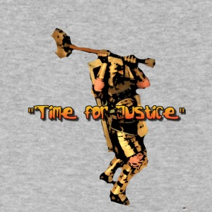 JUSTICE TIME - Men's V-Neck T-Shirt by Canvas