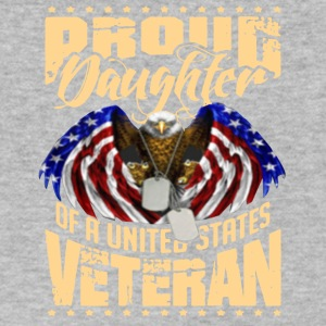 Proud Daughter Of A US Veteran Tee Shirt - Men's V-Neck T-Shirt by Canvas