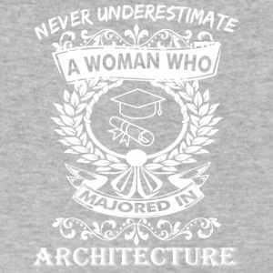 Never Underestimate Woman Who Majored Architecture - Men's V-Neck T-Shirt by Canvas