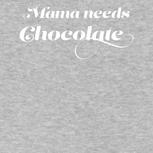 mama needs chocolate - Men's V-Neck T-Shirt by Canvas