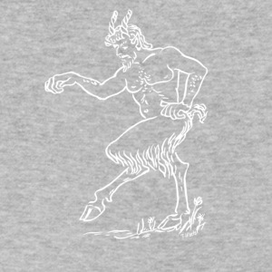 Faun Reverse Image - Men's V-Neck T-Shirt by Canvas