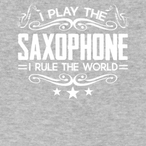 I Play The Saxophone Tee Shirt - Men's V-Neck T-Shirt by Canvas