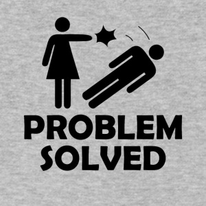Problem Solved Funny Girlfriend / Wife Tee Shirt - Men's V-Neck T-Shirt by Canvas