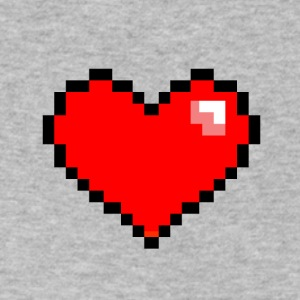 Pixel Heart - Men's V-Neck T-Shirt by Canvas