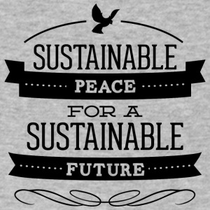 sustainable_peace_for_future - Men's V-Neck T-Shirt by Canvas