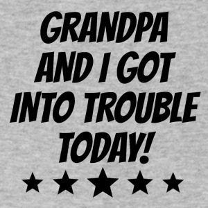 Grandpa And I Got Into Trouble - Men's V-Neck T-Shirt by Canvas