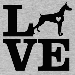 doberman design - Men's V-Neck T-Shirt by Canvas