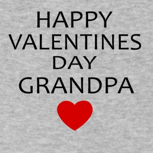 Hapy Valentines Day Grandpa - Men's V-Neck T-Shirt by Canvas