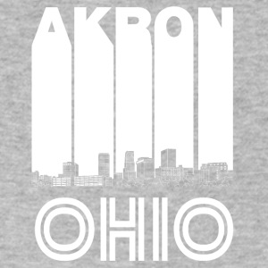 Retro Akron Ohio Skyline - Men's V-Neck T-Shirt by Canvas