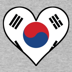 Korean Flag Heart - Men's V-Neck T-Shirt by Canvas