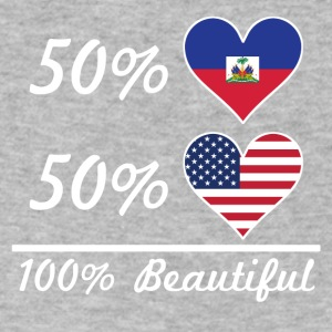 50% Haitian 50% American 100% Beautiful - Men's V-Neck T-Shirt by Canvas