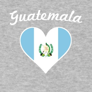 Guatemala Flag Heart - Men's V-Neck T-Shirt by Canvas
