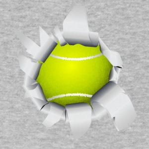 Tennis Ball Hole - Men's V-Neck T-Shirt by Canvas
