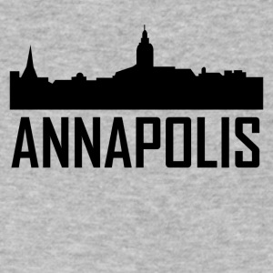 Annapolis Maryland City Skyline - Men's V-Neck T-Shirt by Canvas